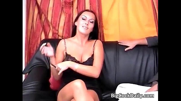 Slutty brunette gets pussy and asshole...