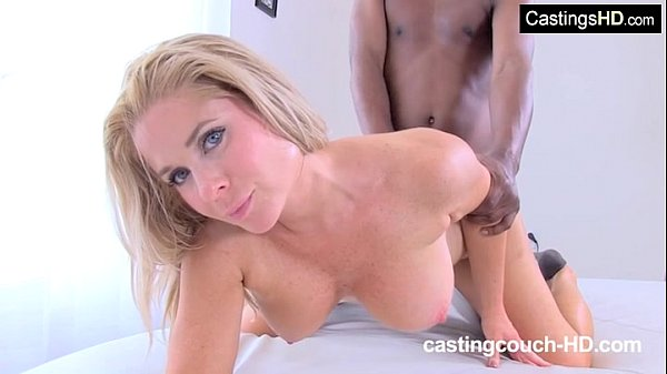 Brunette First Time Interracial At Rap Video Casting