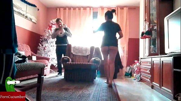 Christmas Nanny brings hot gifts at home...