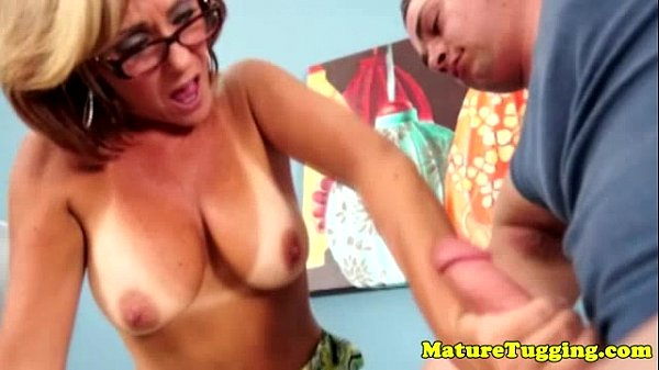 Spex Mature Stepmom Jerking Stepsons Cock