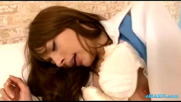 【セックス】ハーフ美人女優のRioが制服コスで着衣セックス