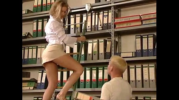 sexy blonde fucked in skirt