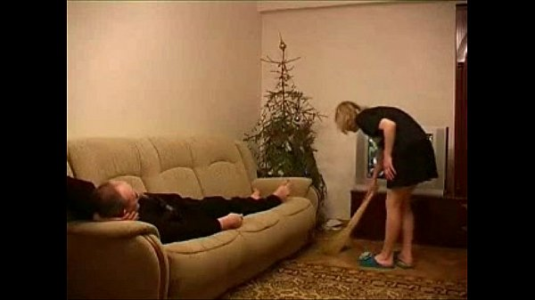 Young housemaid fucked by older guy...