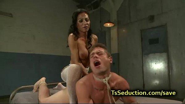 transvestite bondage forced dildo