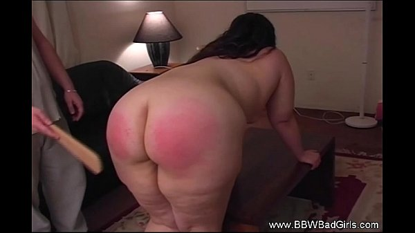 Chubby girlfriend spanked