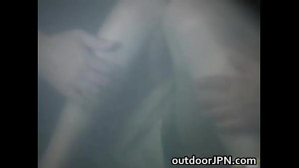 【集団レイプ】混浴風呂で寛ぐ美巨乳な激カワお姉さんをオヤジの集団が強制レイプ 星野あかり