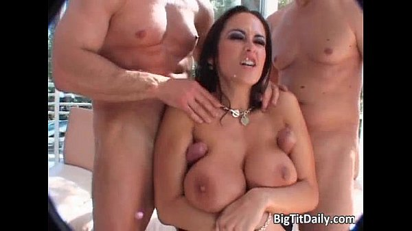 Bitch with big tits gets pussy and ass...