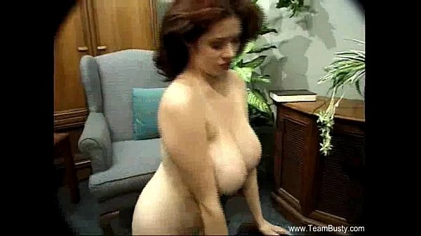 Incredible Natural Boobs Brunette Babe...