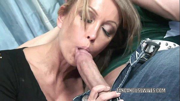 Mature slut Kristina Cross takes all the jiz...