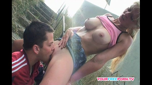 Dirty couple fucking 10 feet from highway...