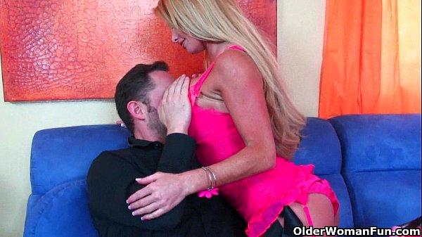 Busty milf Taylor Wane gets her tits cum coa...
