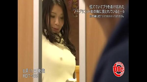 【巨乳動画】ノーブラニットでピンと起った乳首で男を誘惑する美人人妻達  の画像