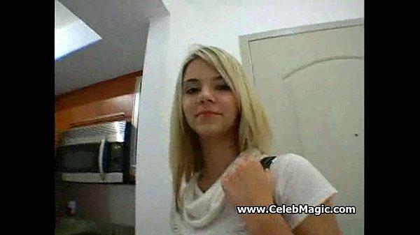 Fuck a cute busty blond teen!...
