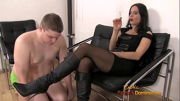 ,smoking,brunette,rough,humiliation,domination,heels,mistress,high,femdom,ash,smacking