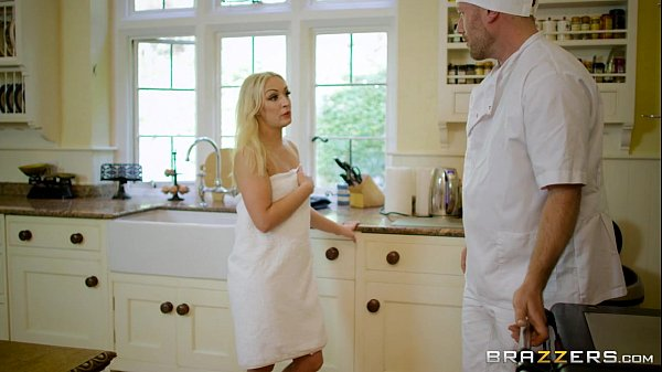 7 min Amber Deen fucks with the cook that works for her brazzer. com