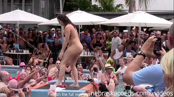 wild milfs stripping down naked in pool hot ...