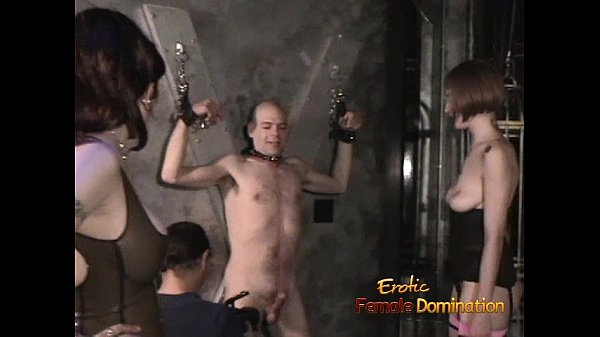 Naughty bald dude enjoys filming BDSM scenes with hot pornstars