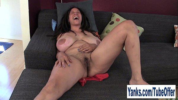 Busty Milf Shannon Rubbing Her Hairy