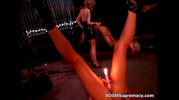 Threesome BDSM with lucky dude who fucks...