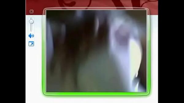 Pamela mostrandose por webcam