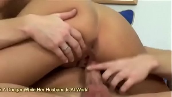 Small Tits blonde babe riding on huge meat b...