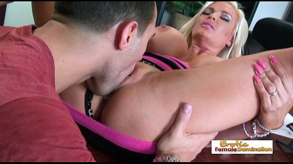 Busty blonde bombshell gets fucked on top of...
