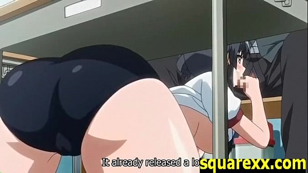 体操着姿で机の下から爆乳美少女の先輩にフェラチオされるとかタマラン!