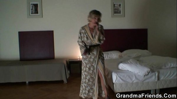 image Two robbers bang lonely mature widow