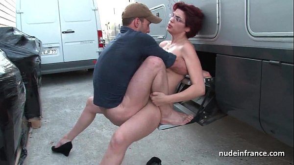 Busty French Fuck Outdoor