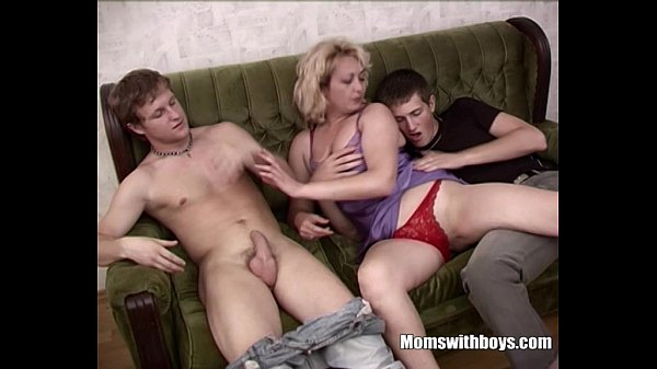 mom helps jackoff cock