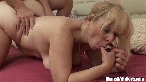 Blonde mature anal