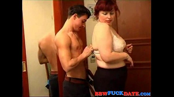 Busty big lady ridding on a skinny guy...