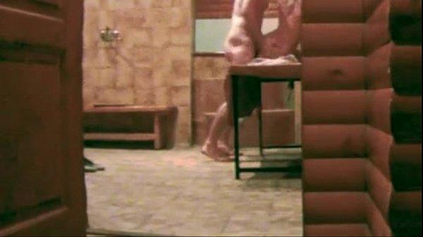 Russians in sauna a lot of hidden cams...