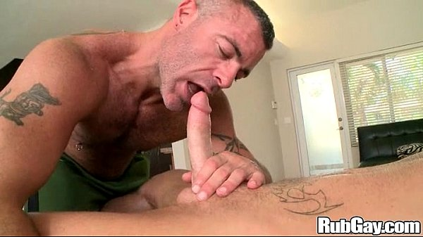 Hungry Hunk Masseuse Sucks On Cock