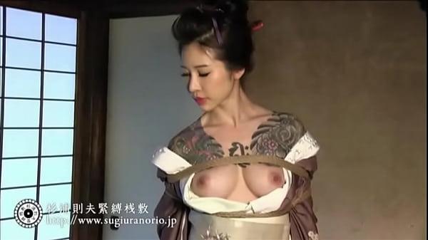 【山桜桃】極道の女を着物姿のまま緊縛拘束&宙吊りにして視姦するSMハード調教動画がこちらです