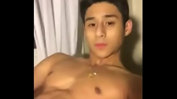 Handsome asian men jerking off