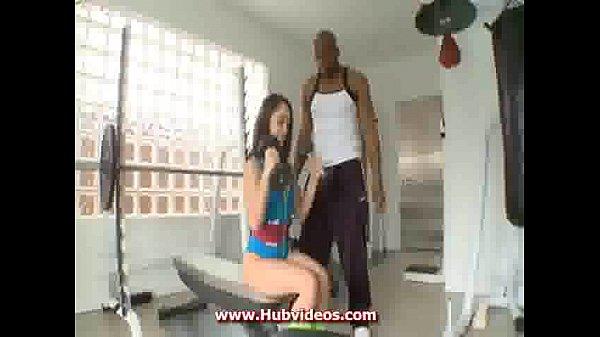 Kristina Rose fucked in gym for black...