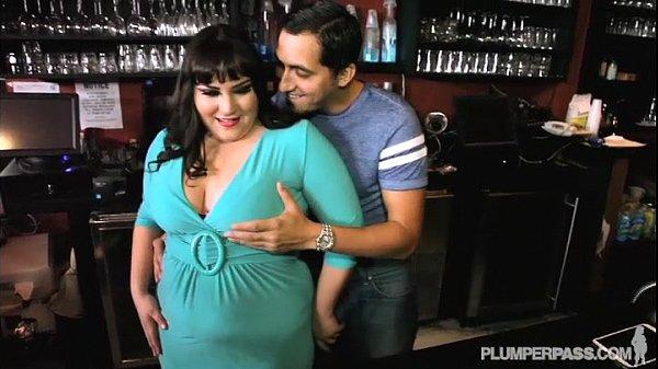 image Plump bartender fucks stud waiter in nightclub