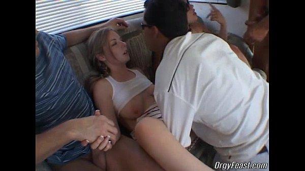 Teen sluts have a wild orgy...