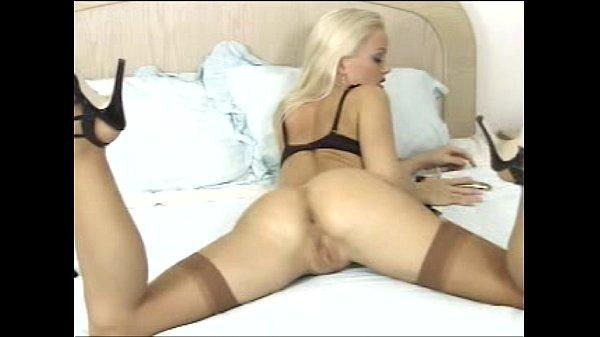 Silvia saint masturbation vibrator lingerie stockings