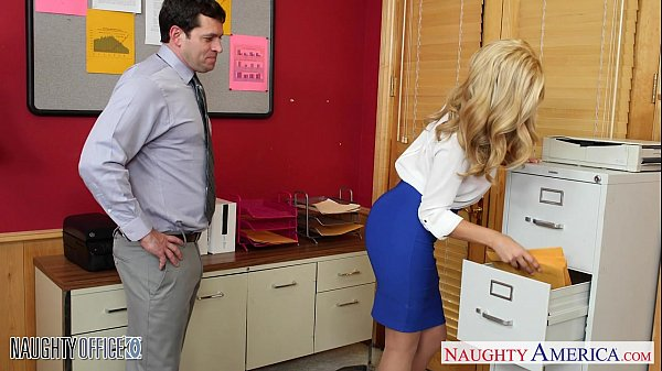 office the in nailed gets jolie gemma blonde Busty