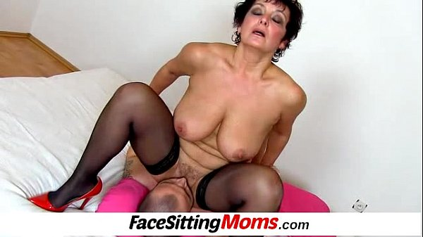 MOM Mature Russian and Serbian lesbians pussy eating in high heels