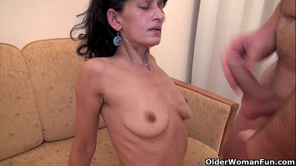 Hairy mom gets fucked by her toy boy...