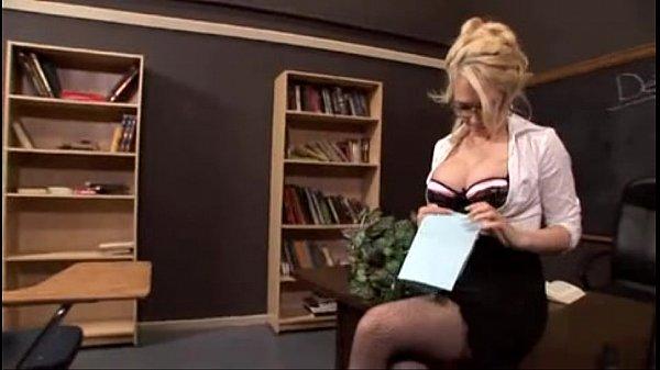 Sexy blonde teacher fucked - FacialxVideos.c...