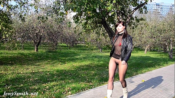 Jeny smith pantyhose suit in public 8