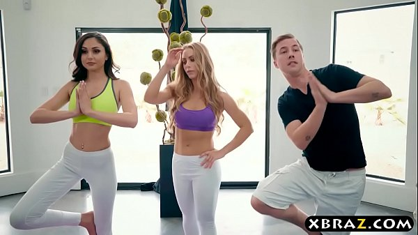 yoga-session-of-a-guy-turns-into-a-threesome-with-two-babes