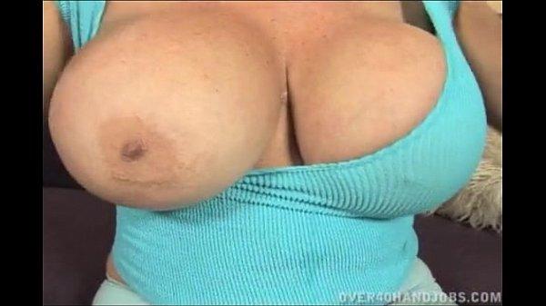 Blonde Granny With Huge Tits Handjob...