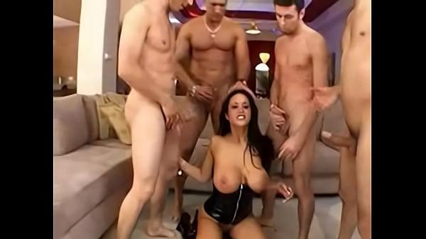 ,anal,cumshot,facial,blowjob,brunette,salivating,deepthroat,asstomouth,doublepenetration,pussyfucking,gangbang,corset,sextoys