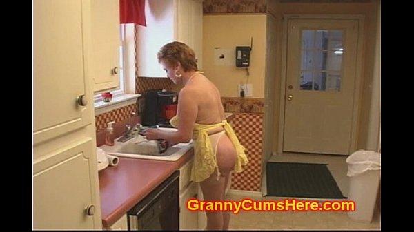 Granny Slut FUCKED in her KITCHEN by BBC...