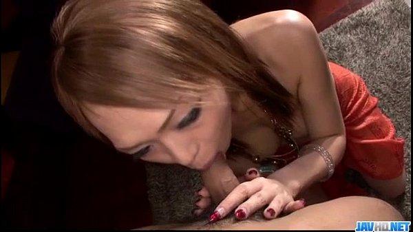 Rina tries cock between her sensual lips 1